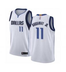 Men's Dallas Mavericks #11 Tim Hardaway Jr. Authentic White Basketball Jersey - Association Edition