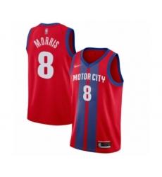 Women's Detroit Pistons #8 Markieff Morris Swingman Red Basketball Jersey - 2019 20 City Edition