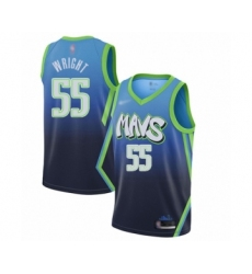 Men's Dallas Mavericks #55 Delon Wright Swingman Blue Basketball Jersey - 2019 20 City Edition