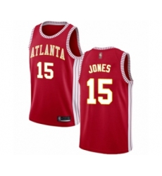 Men's Atlanta Hawks #15 Damian Jones Authentic Red Basketball Jersey Statement Edition