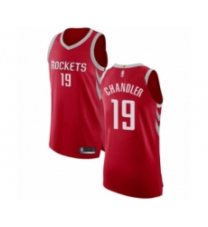 Men's Houston Rockets #19 Tyson Chandler Authentic Red Basketball Jersey - Icon Edition