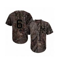 Men's New York Mets #6 Jeff McNeil Authentic Camo Realtree Collection Flex Base Baseball Jersey