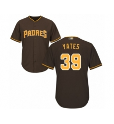 Youth San Diego Padres #39 Kirby Yates Authentic Brown Alternate Cool Base Baseball Jersey