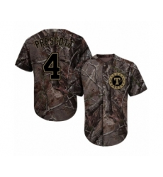 Men's Texas Rangers #4 Dak Prescott Authentic Camo Realtree Collection Flex Base Baseball Jersey