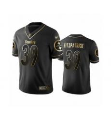 Men's Pittsburgh Steelers #39 Minkah Fitzpatrick Limited Black Golden Edition Football Jersey