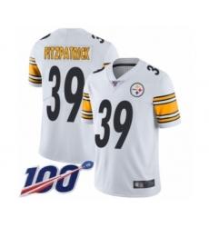 Men's Pittsburgh Steelers #39 Minkah Fitzpatrick White Vapor Untouchable Limited Player 100th Season Football Jersey