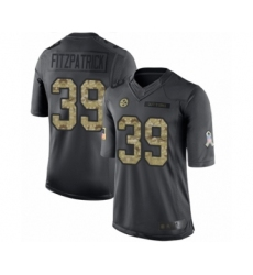 Youth Pittsburgh Steelers #39 Minkah Fitzpatrick Limited Black 2016 Salute to Service Football Jersey