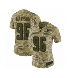 Women's Atlanta Falcons #96 Tyeler Davison Limited Camo 2018 Salute to Service Football Jersey