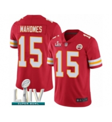 Men's Kansas City Chiefs #15 Patrick Mahomes Red Team Color Vapor Untouchable Limited Player Super Bowl LIV Bound Football Jersey