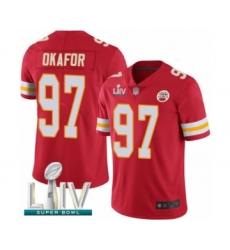 Men's Kansas City Chiefs #97 Alex Okafor Red Team Color Vapor Untouchable Limited Player Super Bowl LIV Bound Football Jersey