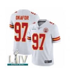 Men's Kansas City Chiefs #97 Alex Okafor White Vapor Untouchable Limited Player Super Bowl LIV Bound Football Jersey