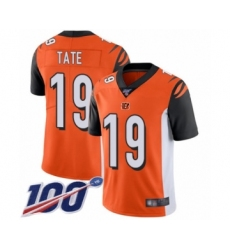 Men's Cincinnati Bengals #19 Auden Tate Orange Alternate Vapor Untouchable Limited Player 100th Season Football Jersey
