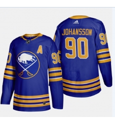 Men's Buffalo Sabres #90 Marcus Johansson Authentic Blue Home Hockey Jersey