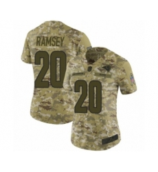 Women's Los Angeles Rams #20 Jalen Ramsey Limited Camo 2018 Salute to Service Football Jersey