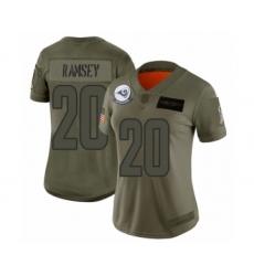 Women's Los Angeles Rams #20 Jalen Ramsey Limited Camo 2019 Salute to Service Football Jersey