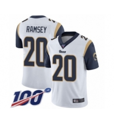 Youth Los Angeles Rams #20 Jalen Ramsey White Vapor Untouchable Limited Player 100th Season Football Jersey