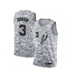 Men's San Antonio Spurs #3 Keldon Johnson White Swingman Jersey - Earned Edition