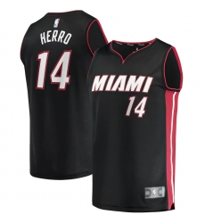 Men's Miami Heat #14 Tyler Herro Fanatics Branded Black 2020-21 Fast Break Replica Jersey