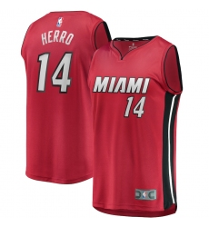 Men's Miami Heat #14 Tyler Herro Fanatics Branded Red 2020-21 Fast Break Replica Jersey