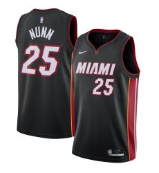Men's Miami Heat #25 Kendrick Nunn Nike Black 2020-21 Swingman Jersey