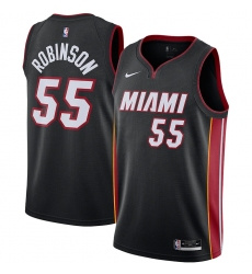 Men's Miami Heat #55 Duncan Robinson Nike Black 2020-21 Swingman Jersey