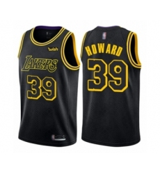 Men's Los Angeles Lakers #39 Dwight Howard Authentic Black City Edition Basketball Jersey