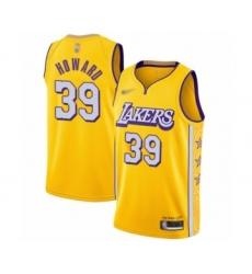 Men's Los Angeles Lakers #39 Dwight Howard Swingman Gold 2019-20 City Edition Basketball Jersey