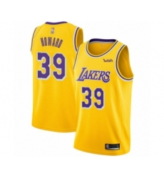 Youth Los Angeles Lakers #39 Dwight Howard Swingman Gold Basketball Jersey - Icon Edition