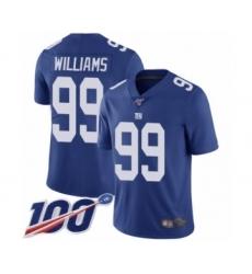 Men's New York Giants #99 Leonard Williams Royal Blue Team Color Vapor Untouchable Limited Player 100th Season Football Jersey