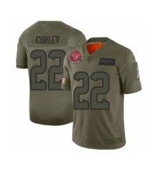 Men's Houston Texans #22 Gareon Conley Limited Olive 2019 Salute to Service Football Jersey