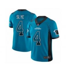 Men's Carolina Panthers #4 Joey Slye Limited Blue Rush Drift Fashion Football Jersey