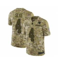 Men's Carolina Panthers #4 Joey Slye Limited Camo 2018 Salute to Service Football Jersey