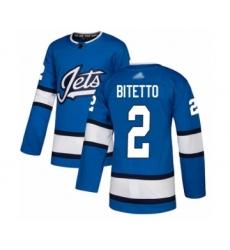 Men's Winnipeg Jets #2 Anthony Bitetto Premier Blue Alternate Hockey Jersey