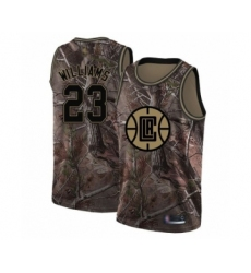 Men's Los Angeles Clippers #23 Lou Williams Swingman Camo Realtree Collection Basketball Jersey