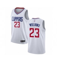 Men's Los Angeles Clippers #23 Lou Williams Swingman White Basketball Jersey - Association Edition