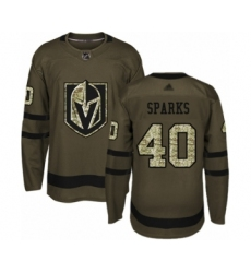 Men's Vegas Golden Knights #40 Garret Sparks Authentic Green Salute to Service Hockey Jersey