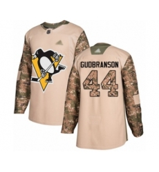 Men's Pittsburgh Penguins #44 Erik Gudbranson Authentic Camo Veterans Day Practice Hockey Jersey