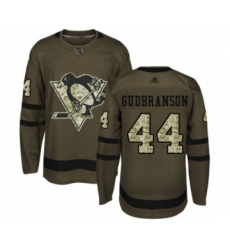 Youth Pittsburgh Penguins #44 Erik Gudbranson Authentic Green Salute to Service Hockey Jersey