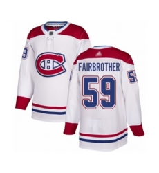 Youth Montreal Canadiens #59 Gianni Fairbrother Authentic White Away Hockey Jersey