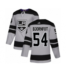 Youth Los Angeles Kings #54 Tobias Bjornfot Authentic Gray Alternate Hockey Jersey