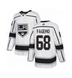 Men's Los Angeles Kings #68 Samuel Fagemo Authentic White Away Hockey Jersey