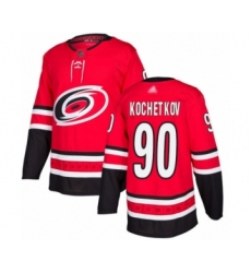 Men's Carolina Hurricanes #90 Pyotr Kochetkov Authentic Red Home Hockey Jersey