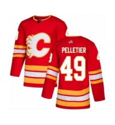 Men's Calgary Flames #49 Jakob Pelletier Authentic Red Alternate Hockey Jersey