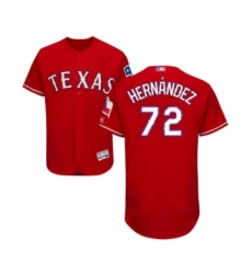 Men's Texas Rangers #72 Jonathan Hernandez Red Alternate Flex Base Authentic Collection Baseball Player Jersey
