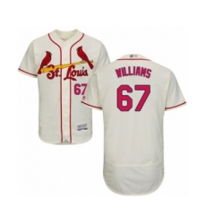 Men's St. Louis Cardinals #67 Justin Williams Cream Alternate Flex Base Authentic Collection Baseball Player Jersey