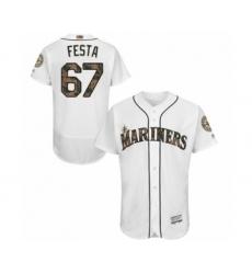 Men's Seattle Mariners #67 Matt Festa Authentic White 2016 Memorial Day Fashion Flex Base Baseball Player Jersey
