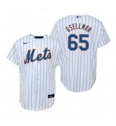 Men's Nike New York Mets #65 Robert Gsellman White Home Stitched Baseball Jersey