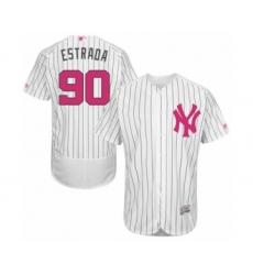 Men's New York Yankees #90 Thairo Estrada Authentic White 2016 Mother's Day Fashion Flex Base Baseball Player Jersey