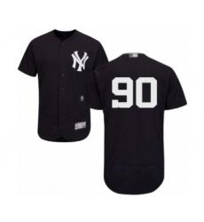 Men's New York Yankees #90 Thairo Estrada Navy Blue Alternate Flex Base Authentic Collection Baseball Player Jersey