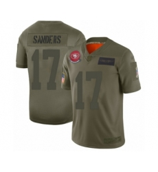 Youth San Francisco 49ers #17 Emmanuel Sanders Limited Camo 2019 Salute to Service Football Jersey